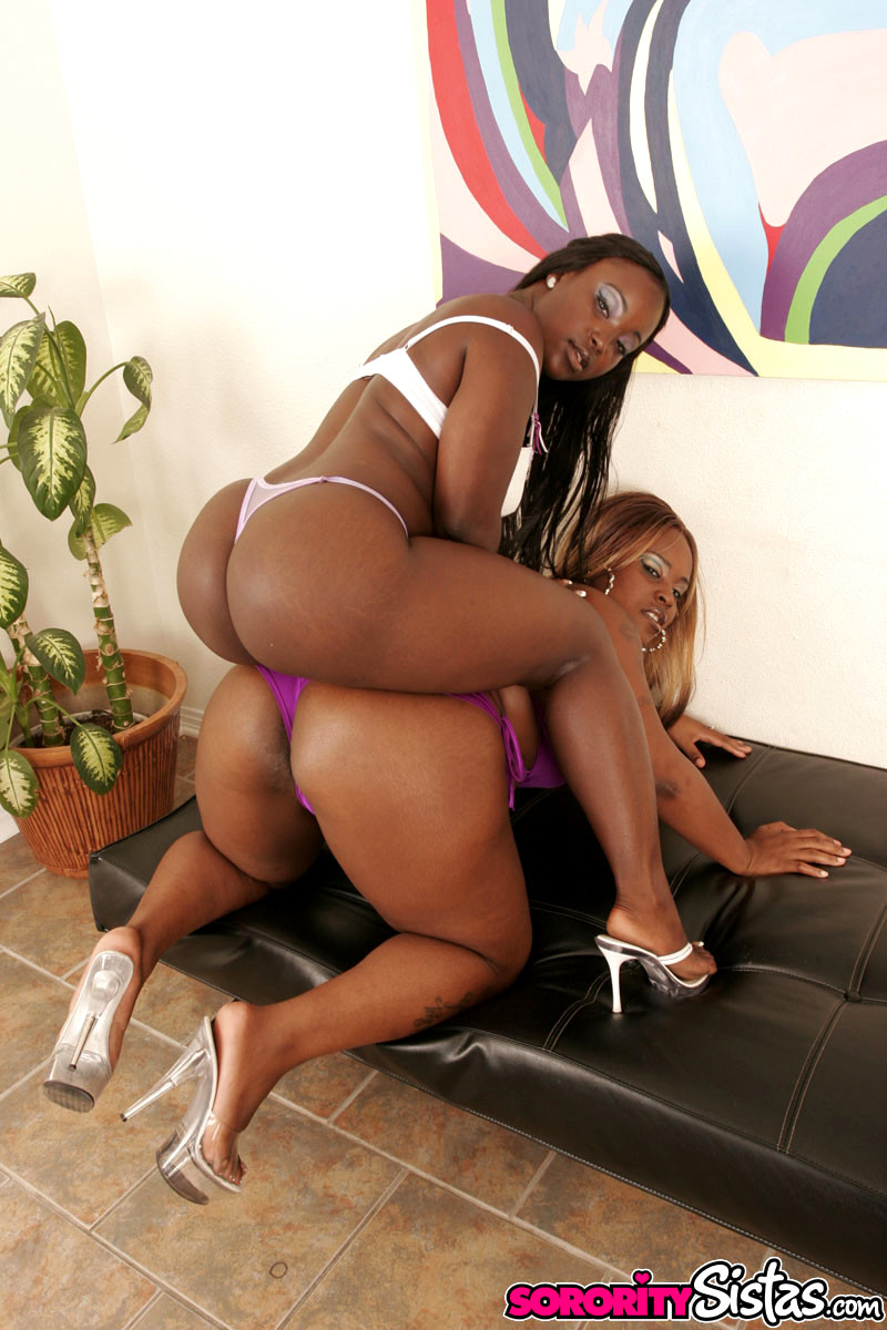 Big booty black lesbians playing kinky games together, free porn